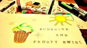 seven.two. sunshine and frosty swirl by Larafaire