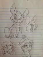 Stitch Sketches by WolffNoelle