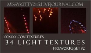 34 Firework Light Textures by missykitty0115