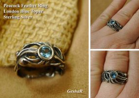 Peacock Feather Ring by GeshaR