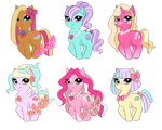 Summer Sunshine Pony Adopts - 3/6 avaliable by SnowFright