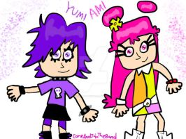 AmiYumi paint art by DarkRoseDiamond123
