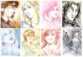 Harry Potter characters by GalacticDustBunnies