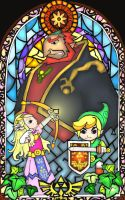 Wind Waker Stained Glass Fanart by aiduqui