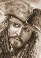 Jack Sparrow sepia version by muse0107