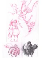 Animals from my sketch book 2 by robtheR0B0T