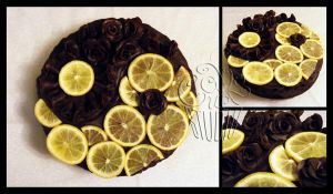 for Sis 2011 - Yin Yang Cake by CakeUpStudio