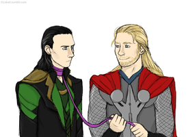 Walking Loki by GoreChick