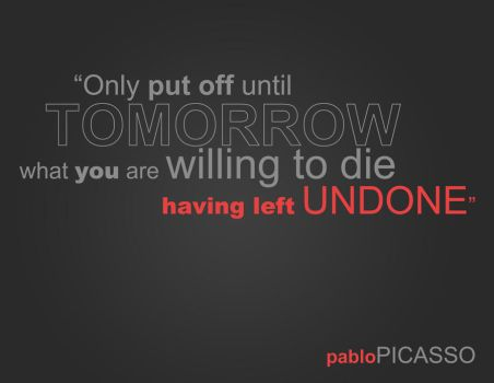 Pablo Picasso Quote by TAK-tide