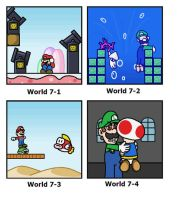 SMB: World 7 by minimariodrawer