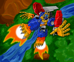Optimal Optimus in flight by MagusTheLofty