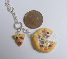 pizza and slice pendant from NeatEats by rhonda4066