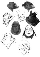 Head sketches by Kidiam