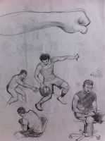 Practice Sketches of Humans.. by sandreezy