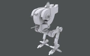 Star Wars Advanced Scout Walker MkII wip by AdamKop