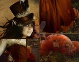 Pumpkin Patch Annie close up by Toefje-Kunst