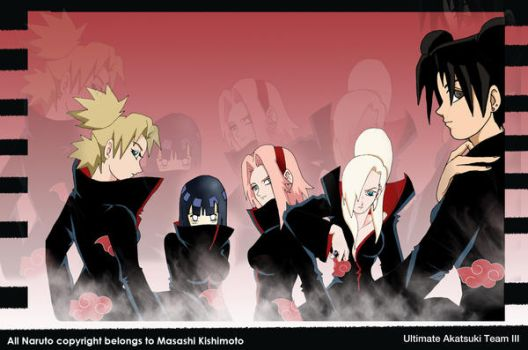 Ultimate Akatsuki Team III by darkgal666