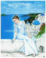 Santorini by Katerina-Art
