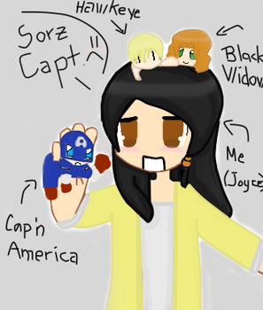 Me And The Chibi Avengers XD by Joyce-GlitchGirl-DC