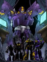 Astrotrain- His minions by Inker-guy