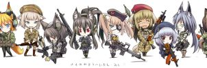 Chibi Kemomimi Mercenaries by ALF874
