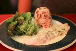 Monkfish with chestnut rice by patchow