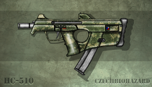 Fictional Firearm: HC-510 Submachine Gun by CzechBiohazard