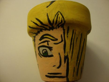 Bleach flower pots:Kira by WeAteTheCrayons