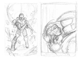 Halo 4 rough layouts (CHOSEN) by AndrewKwan