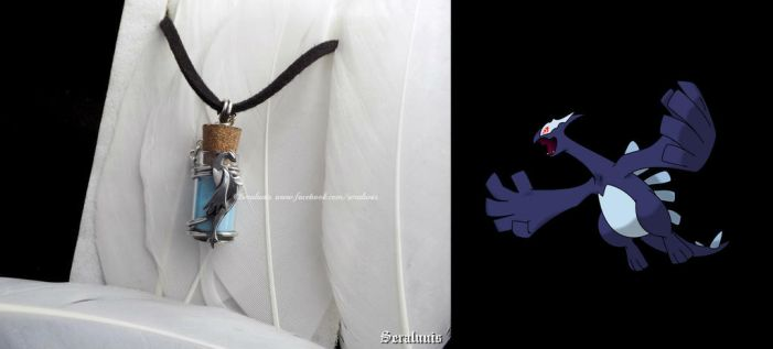 Shadow Lugia, glow in the dark pendant FOR SALE by seralune