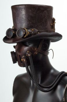Steampunk Leather Tophat by Valimaa