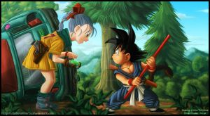 Dragon Ball - the meeting - by diabolumberto