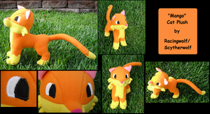 Orange Cat Plushie by racingwolf