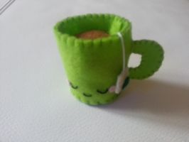 Tasse de The en Feutrine  Felt Tea Cup by MUbyGaelle