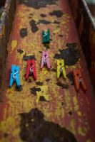Colorful Mini clothespin all vs one by aleexdee