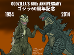 Godzilla - 60th Anniversary - 20141103 by ryuuseipro