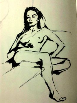 Pen Life Drawing by nome94