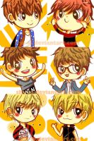 Exo-M Cartoon Icons by Shu-Ai