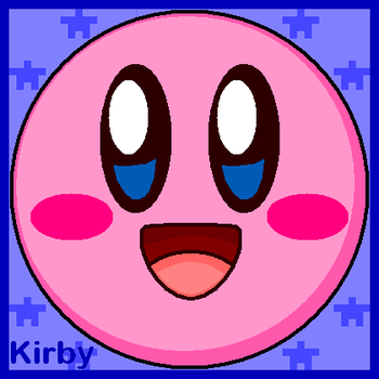 Kirby Face Profile by cuddlesnam