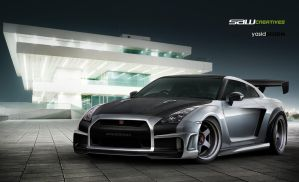 Skyline GTR 35 widebody1 by yasiddesign