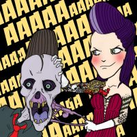 Dried Zombie and Psycho vixen by HorrorRudey