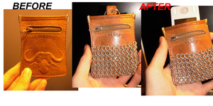 MP3 player leather pouch by Orkekum