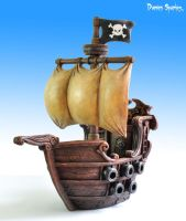 Pirate Ship front by Deadeyedamo