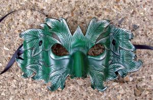 Winter Frost Green Man Mask by merimask
