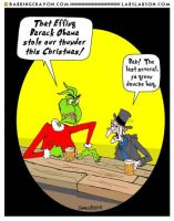 Obama Vs. Grinch and Scrooge by Conservatoons