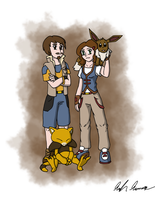 Trainers Kelsi and Grant (Commission) by Saronicle