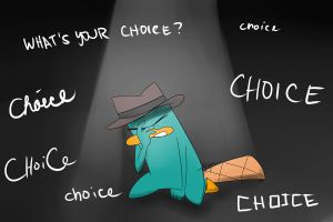 Perry, what's your choice? by DokiFanArt
