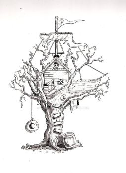 Parlay Planks Pirate Tree House by Newspower