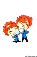 Hitachiin twins - chibi by Jinpei