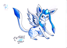 .: Winged Shiny Glaceon :. by Aluri